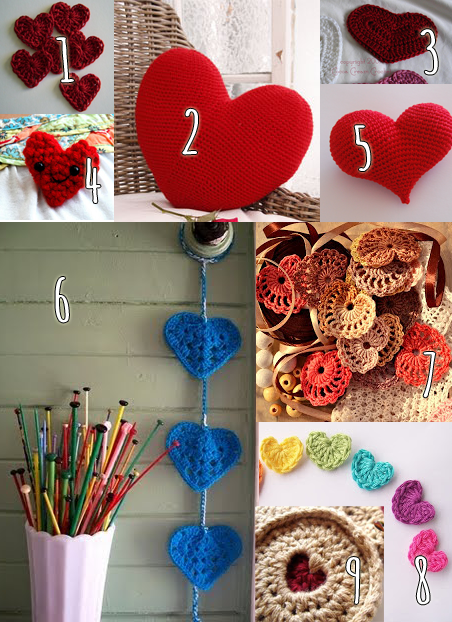 Crochet roundup: Free heart patterns