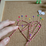 DIY thread heart art