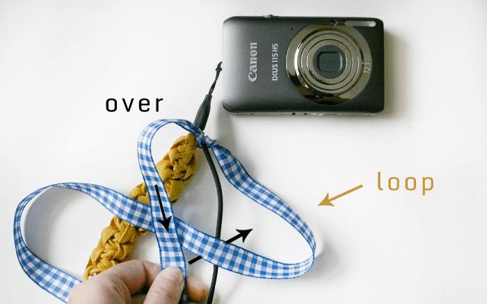 Macrame camera strap