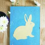Rabbit splatter wall art tutorial | Crafting Fingers