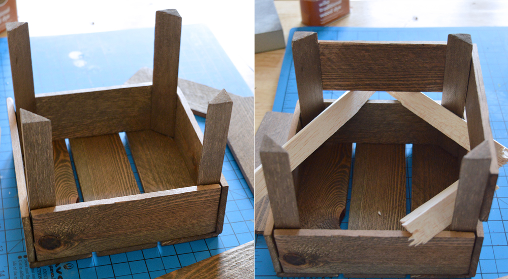 How to make an aged miniature fruit crate from scratch | Crafting Fingers