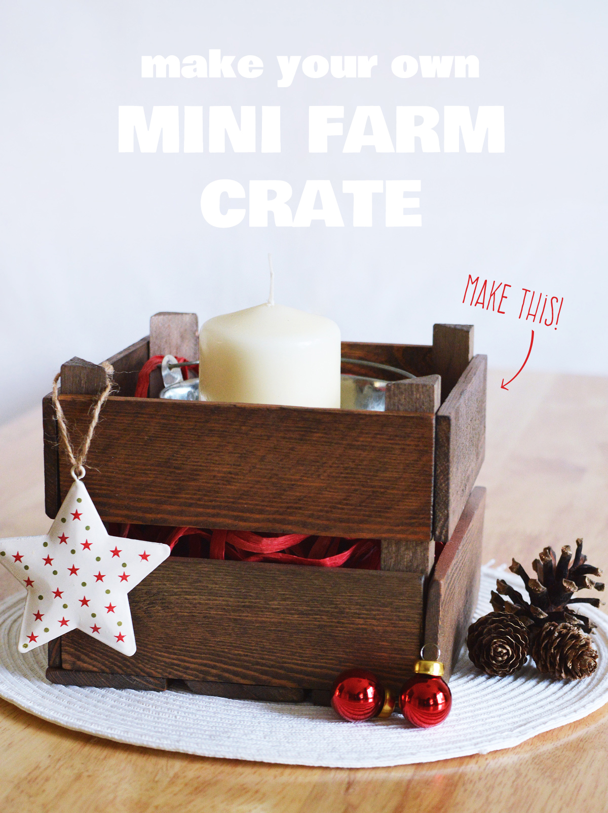 How to make a miniature farm crate from scratch | Crafting Fingers
