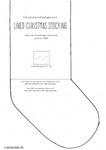 How to sew a lined stocking | Crafting Fingers