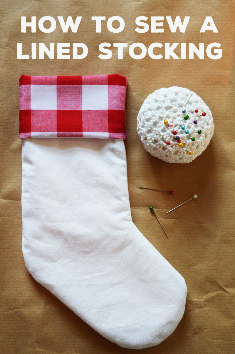 Diy lined stocking free pattern jeuxipadfo Gallery