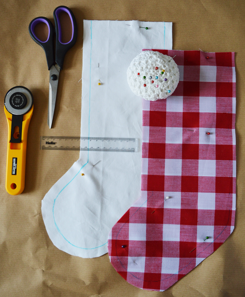 How to sew a lined stocking | Sewing for beginner's series on Crafting Fingers