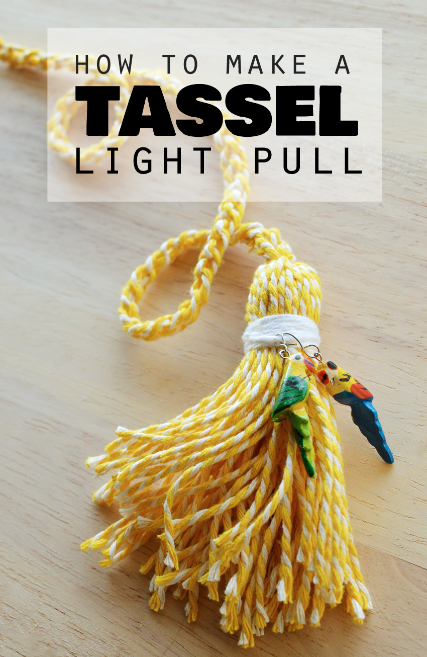 How to make a tasselled light pull with baker's twine  #DIY #home #decor | craftingfingers.co.uk