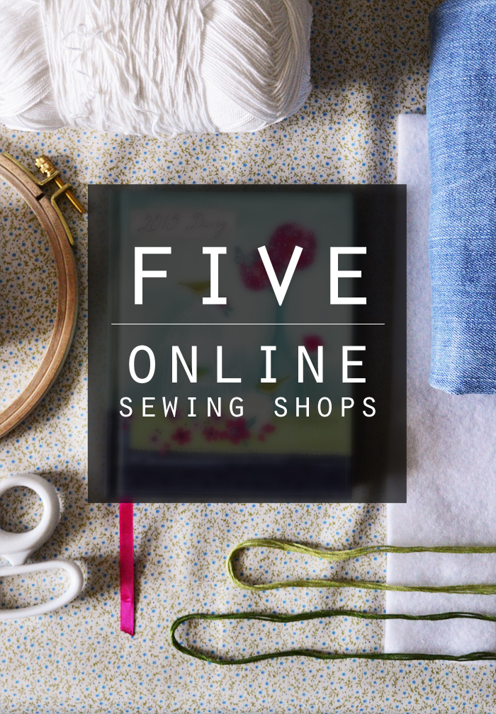 5 online sewing shops in the UK | craftingfingers.co.uk #sewing #haberdashery