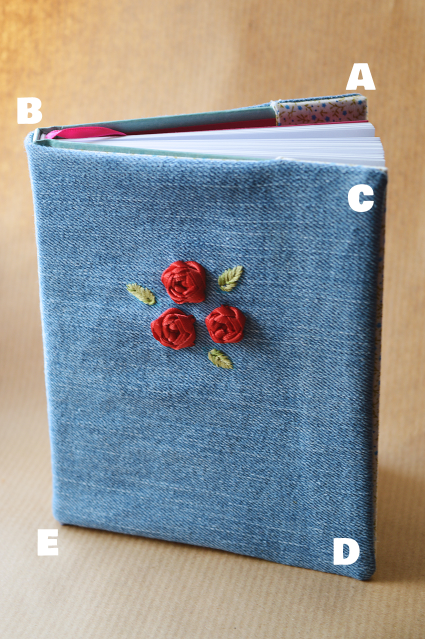 Sewing Book Cover : How to sew a cover for any hardback book
