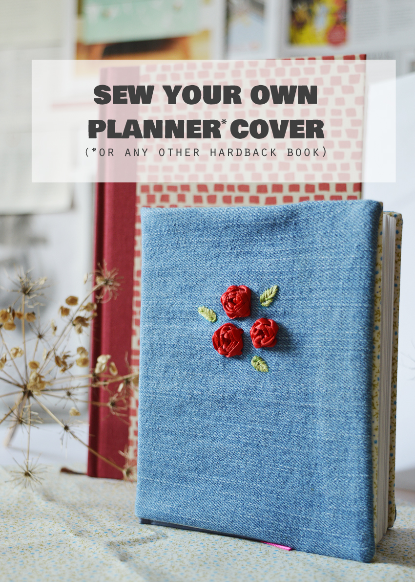 Book Cover Sewing Supplies ~ How to sew a cover for any hardback book