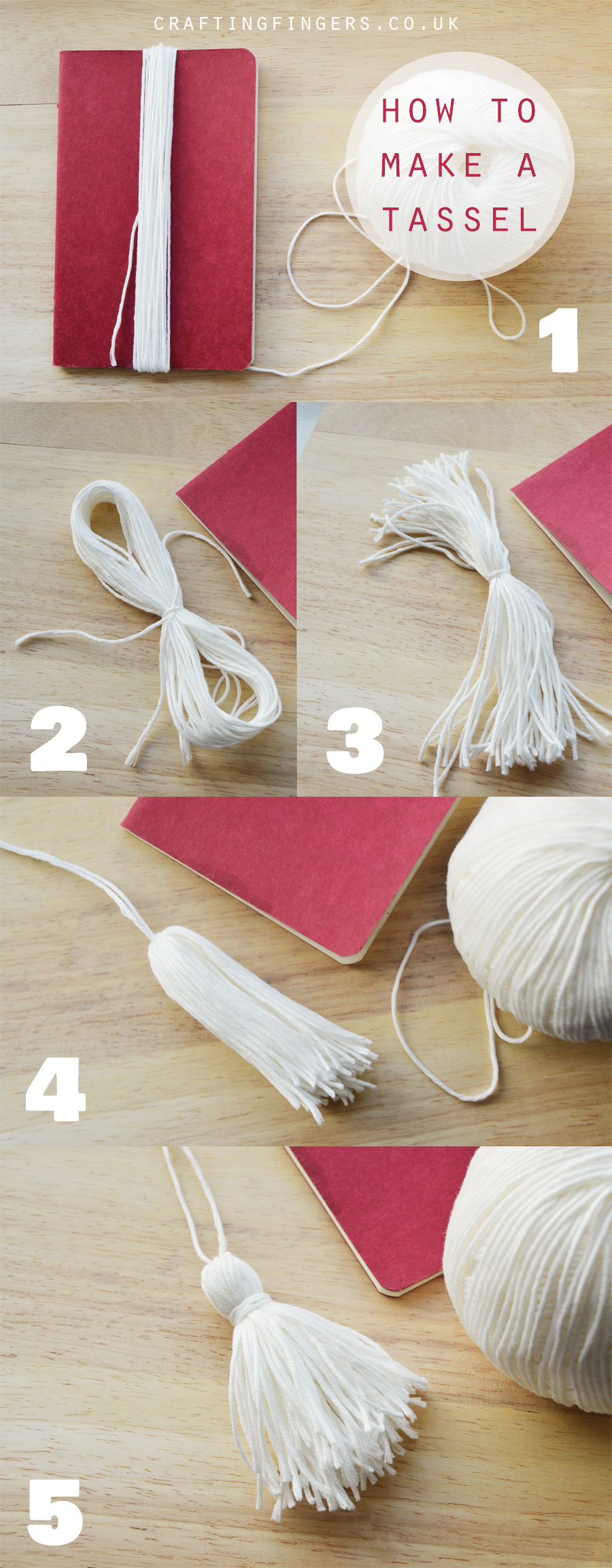 How to make a tassel (any size, any thread!) | craftingfingers.co.uk #DIY