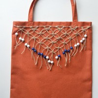 DIY Tote Makeover with Macrame Fringe