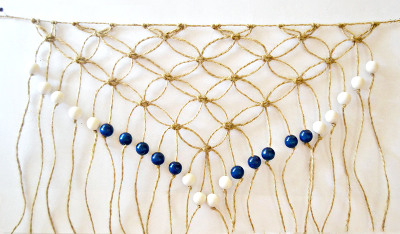 DIY beaded macrame fringe tutorial craftingfingers.co.uk