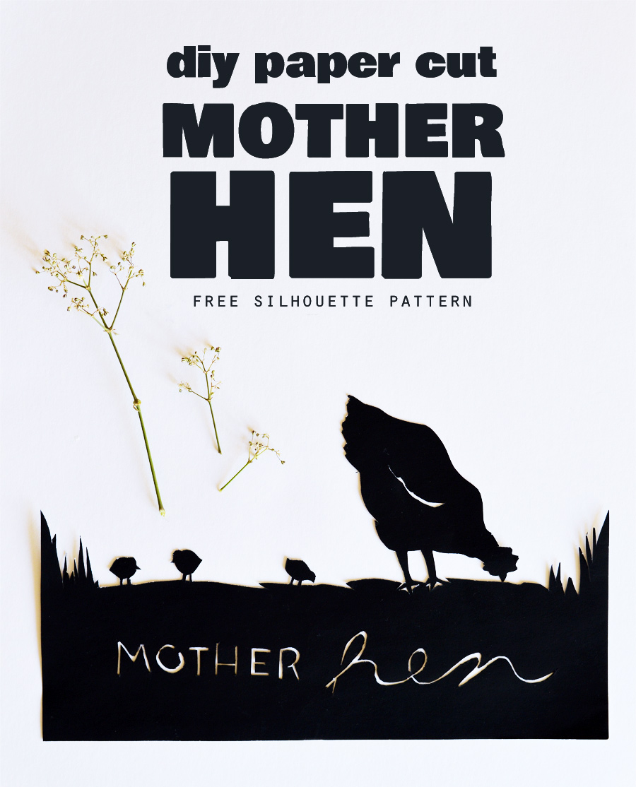 photo regarding Free Printable Silhouettes titled Mom Chook Paper Slice (No cost Printable Silhouette)