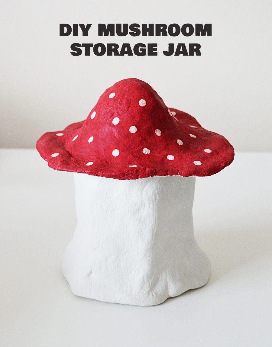 DIY Clay Mushroom Jar   craftingfingers.co.uk