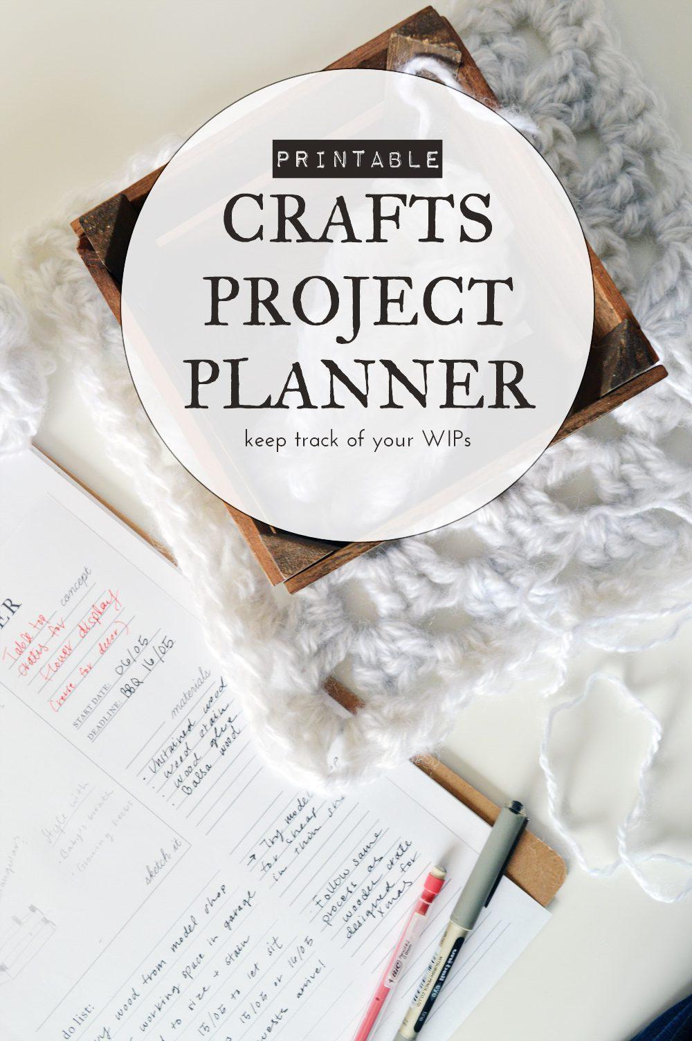Printable craft project planner |  #crafts #DIY #printable #freebie