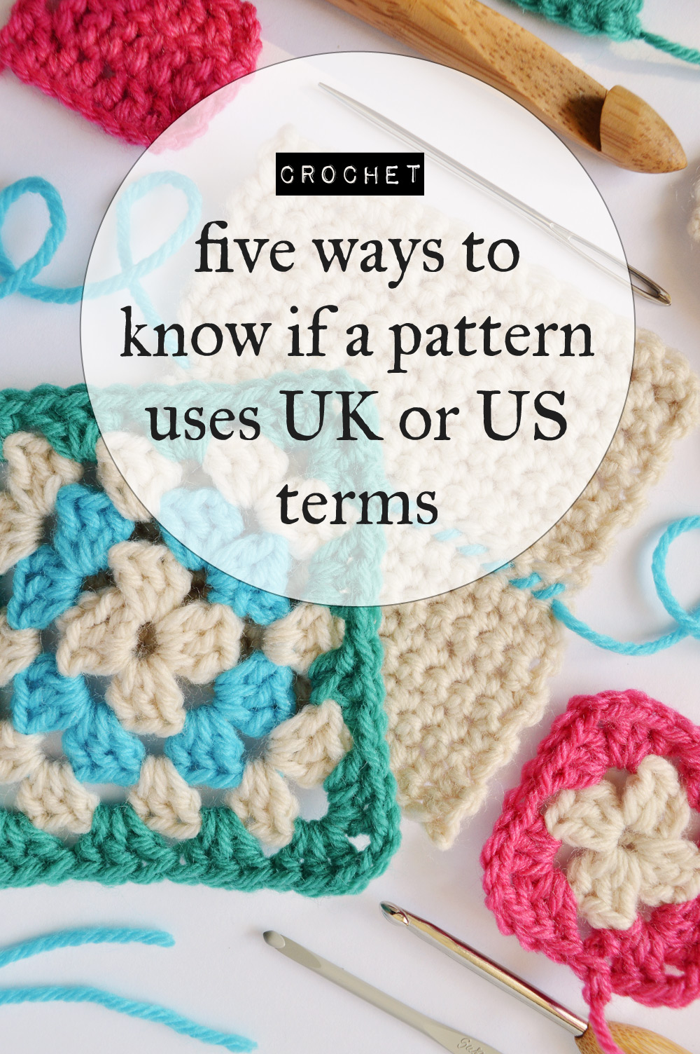 Crocheting Vocabulary : How to know if a crochet pattern uses UK or US terms @craftingfingers