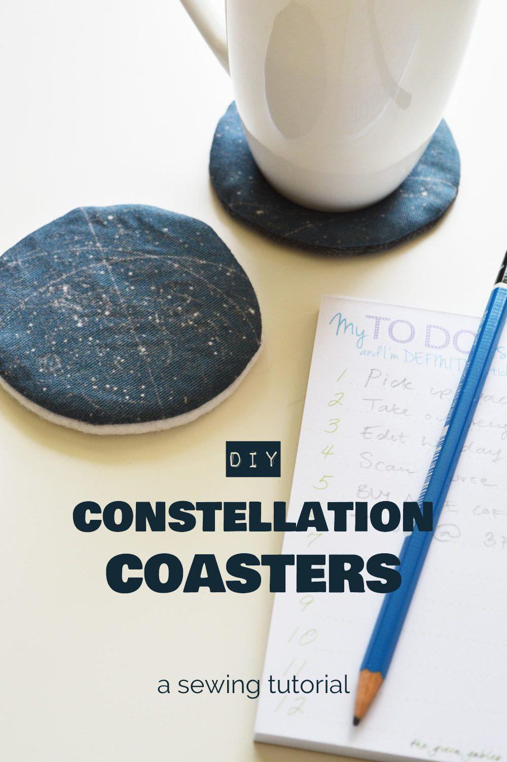 DIY constellation coasters tutorial
