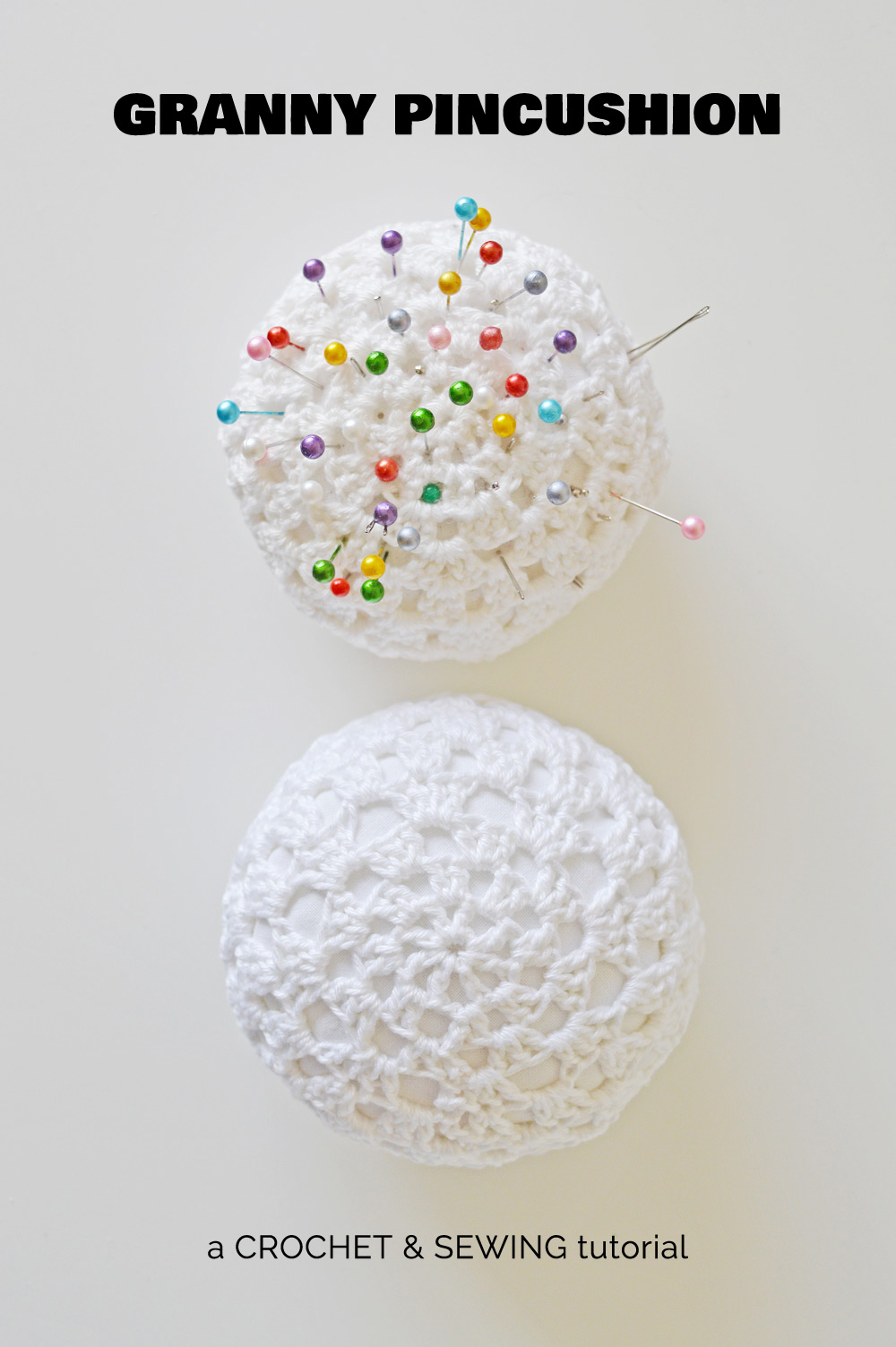 DIY crochet pincushion tutorial + pattern