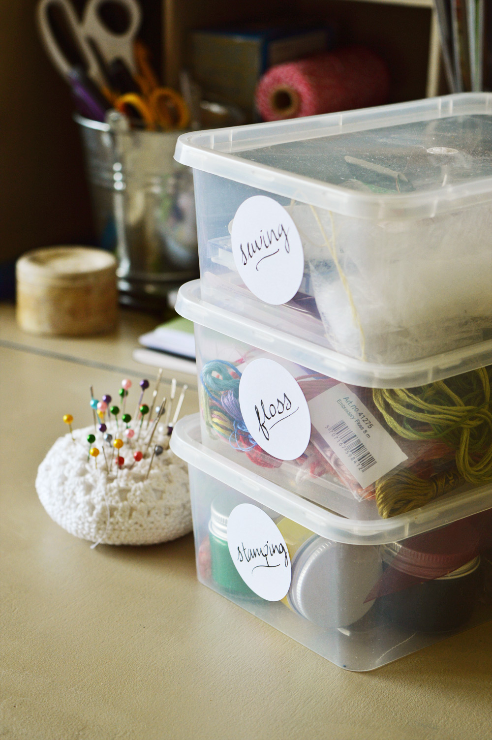 Organising craft materials