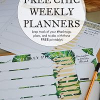 FREE Chic and Fresh Weekly Planner Printables