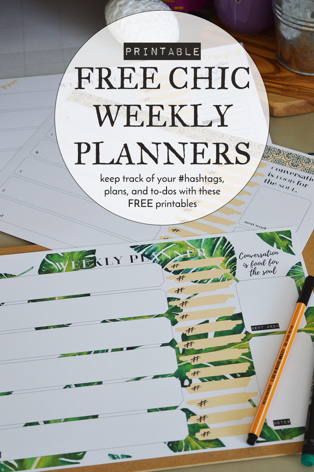 picture relating to Annie Plans Printables referred to as No cost Stylish and Contemporary Weekly Planner Printables