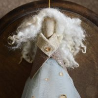 DIY upcycled angel tree topper
